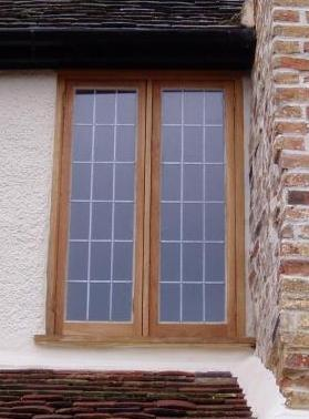 Small oak window